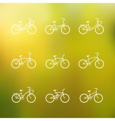 Bicycle signs set of simple bike icons vector image