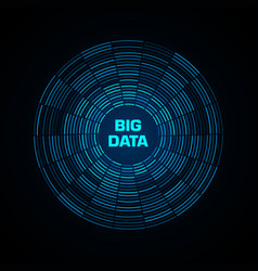 Big data visualization blue futuristic circular vector
