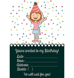 Birthday Invitation Woman Vector Images Over 970