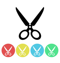 black scissors silhouette icon isolated vector image