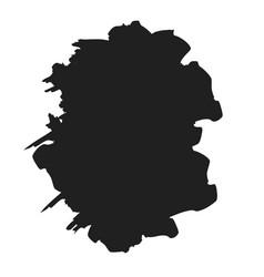 brush paint stroke grunge stain ink in frame vector image