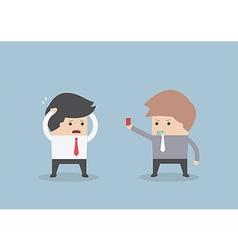 Businessman get fired vector image