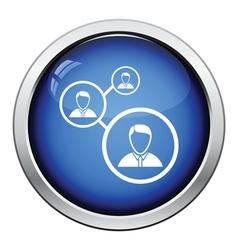 Businessmen structure icon vector