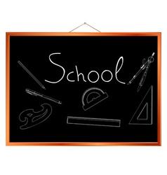 chalk drawing vector image