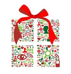 Christmas giftbox vector