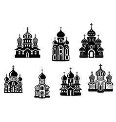 churches and temples vector image