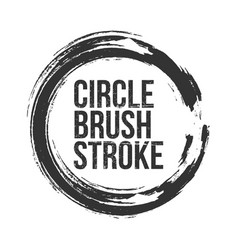 Circle brush stroke frame with place for text vector