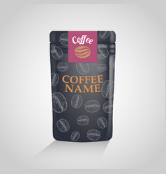 coffee packaging design template vector image