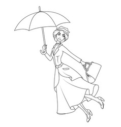 Coloring book mary poppins a novel character vector