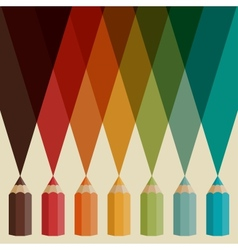 creative background with colored pencils vector image