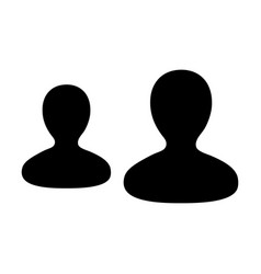 Customer icon male group of persons symbol avatar vector