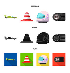 design of car and rally icon set of car vector image