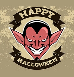 Devil Head Halloween Badge vector