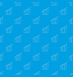 diagram pattern seamless blue vector image
