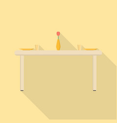 dining table icon set of great flat icons use vector image