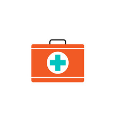 first aid box solid icon medical case and bag vector image