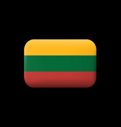 Flag of lithuania matted icon and button vector