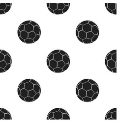 Football icon black single sport icon from the vector