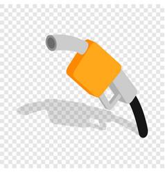 Gas station gun isometric icon vector