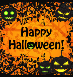 halloween festive floral poster vector image