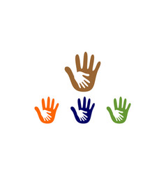 hand care logo vector image