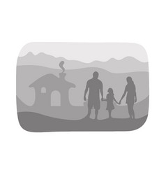happy family together at their house vector image