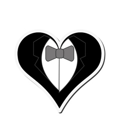 Happy groom heart icon vector