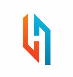 Hidden h logo design template vector