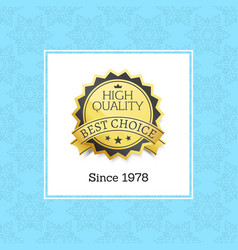 high quality best choice golden stump label text vector image