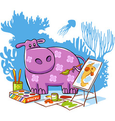 hippo character vector image