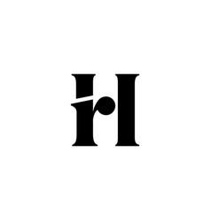 Hr letter rh initial logo iconuntitled-1 vector