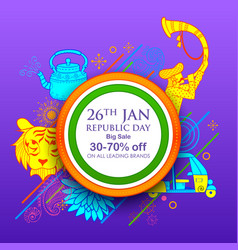 Indian background with tricolor for 26th january vector