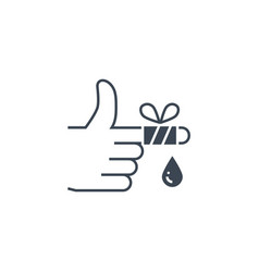 injured finger related glyph icon vector image