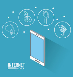 internet service infographic vector image