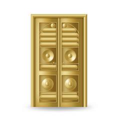 Kaaba golden door icon realistic gold design vector