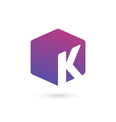 Letter K cube logo icon design template elements vector