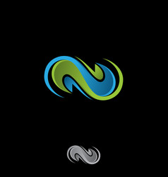 letter n infinity vector image