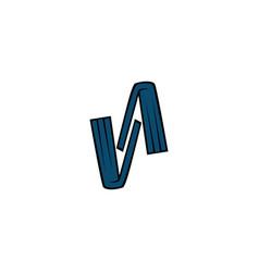 letter v book logo vector image
