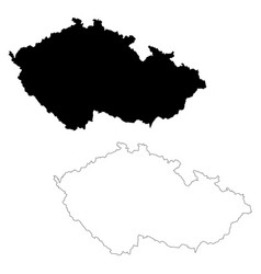 map czech republic isolated vector image