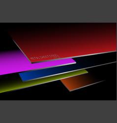 Metal sheet steel stacked colors vector