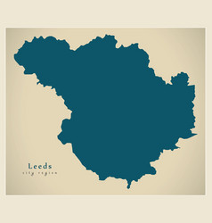 Modern city map - leeds city of england uk vector