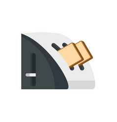 modern toaster icon flat style vector image