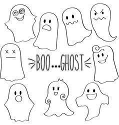 Outline ghosts vector