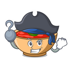 Pirate tomato soup character cartoon vector