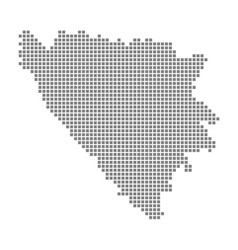 pixel map of bosnia herzegovina cantons dotted vector image