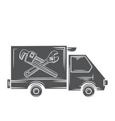 plumbing express service car vector image