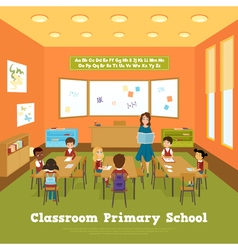 Primary School Classroom Template vector
