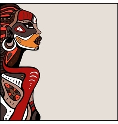 Profile of beautiful african woman vector