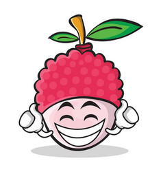proud lychee cartoon character style vector image