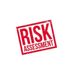 Risk assessment rubber stamp vector